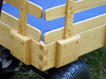 Quarter Sawn White Oak Deluxe Wagon - detail